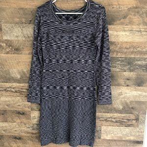 Small Tart Black Gray Knit Dress